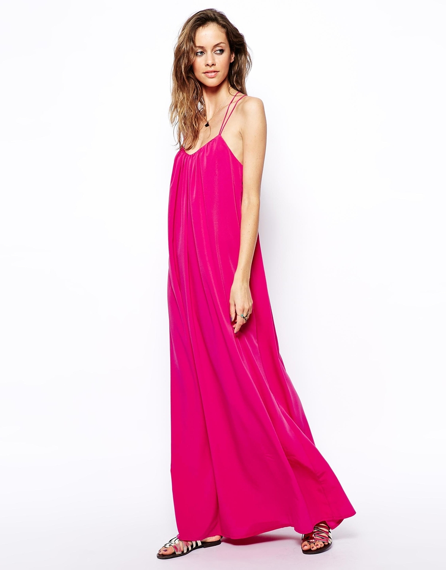 shop uk cheap sale usa cheap sale ASOS Strappy Swing Maxi Dress at asos.com