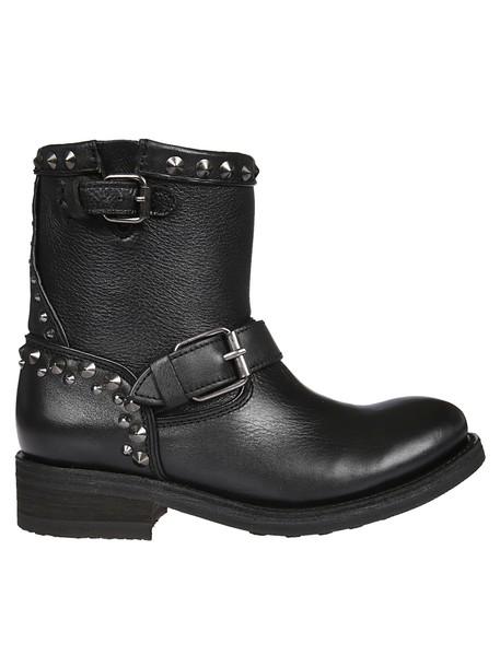 studded black shoes