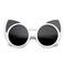 Women's trendy oversize round cat eye window sunglasses 9766