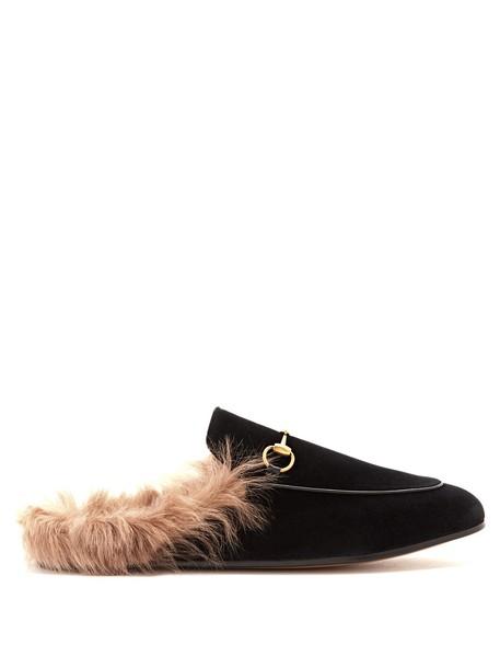gucci loafers velvet black shoes