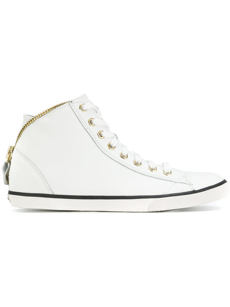 Diesel women sneakers leather white shoes