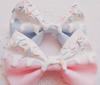 hair accessory bow bows pastel ice cream sweet pretty girly cute kawaii hair accesory
