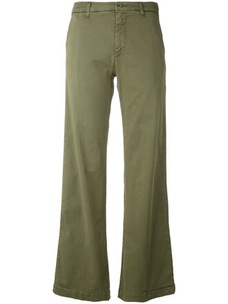 women spandex cotton green pants