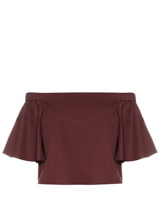 top cotton burgundy
