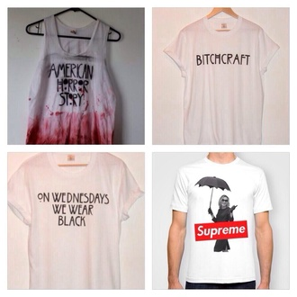 shirt bitchcraft american horror story grunge hipster on wednesday we wear black supreme