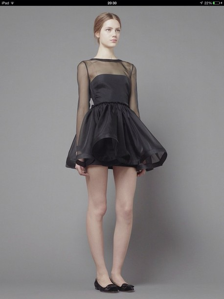 dress black dress mini dress puffy dress valentinodress