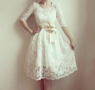 dress hipster wedding wedding dress bows white dress clothes