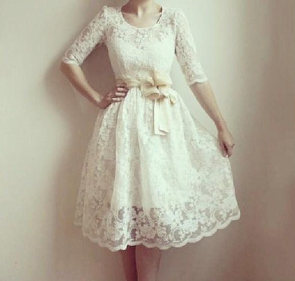 dress hipster wedding wedding dress bows white dress