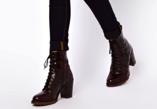 shoes burgundy biker boots ankle boots shiny high heels boots wheretoget. Black Bedroom Furniture Sets. Home Design Ideas