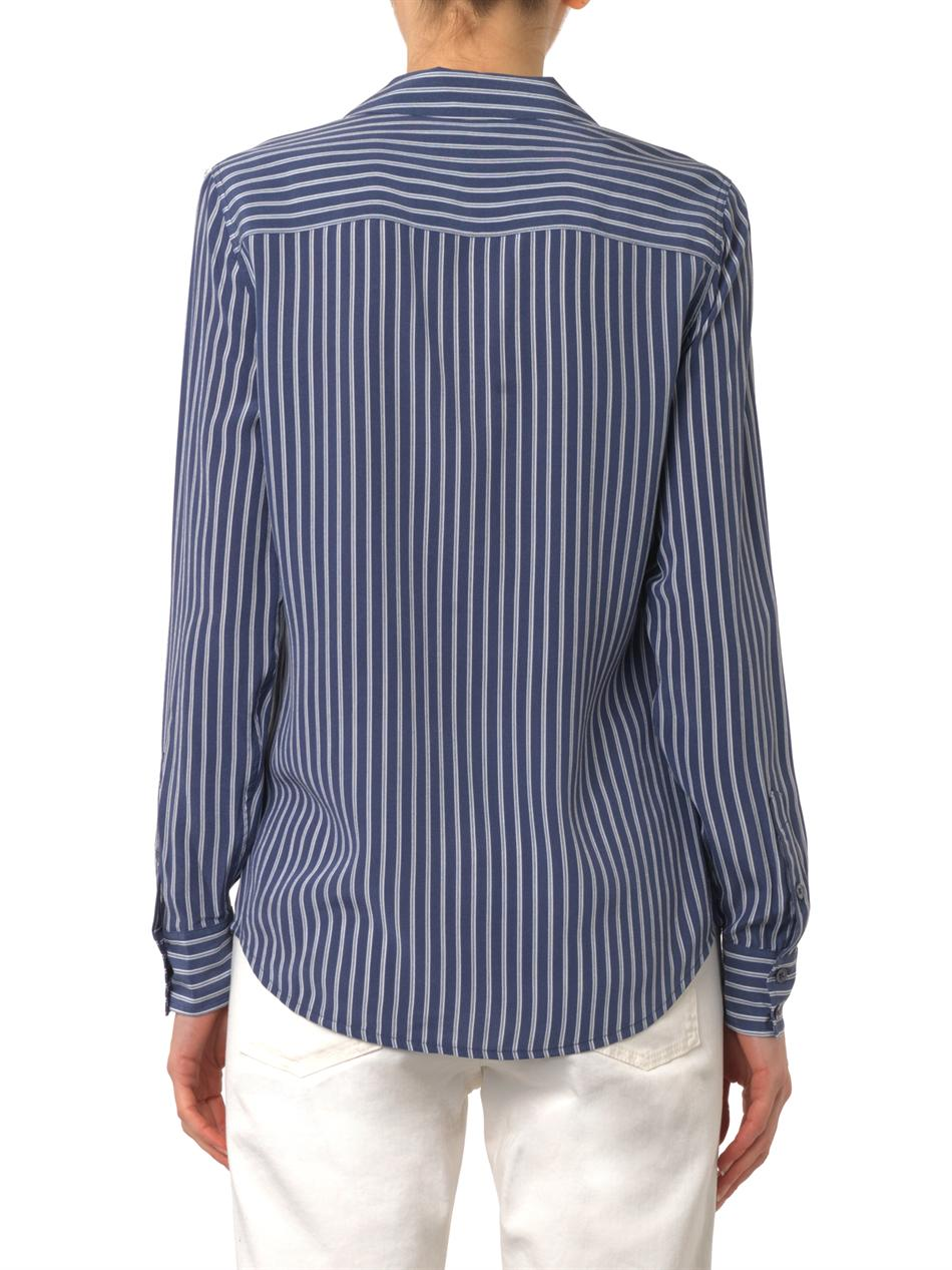 Adalyn striped silk shirt | Equipment | MATCHESFASHION.COM
