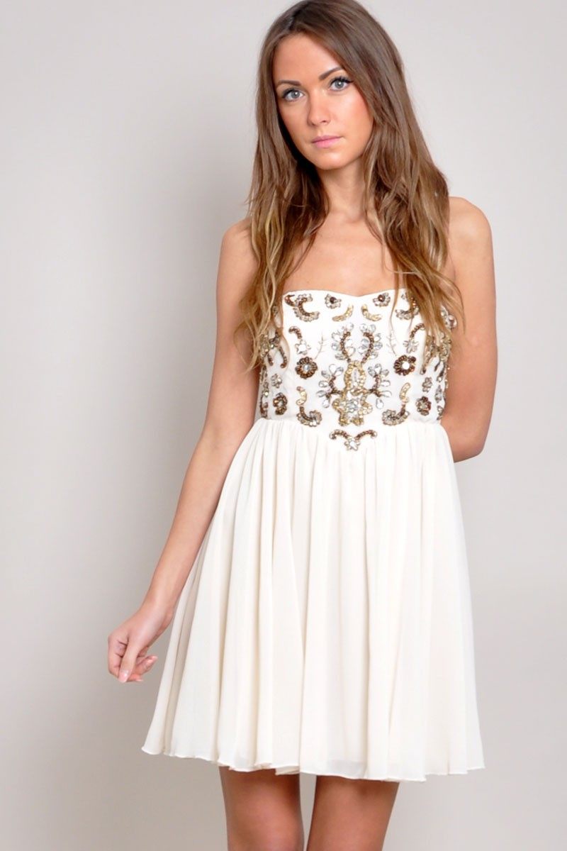 Tfnc amelia embellished dress