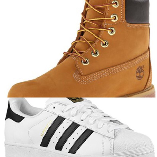 Shoes Timberlands Adidas Superstars Brown Boots White Sneakers