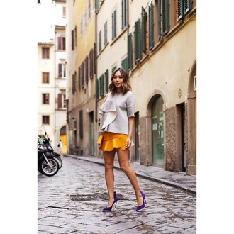 top marni grey top trendy 2015 fashion blogger fashion blogger asian italy firenze4ever song of style
