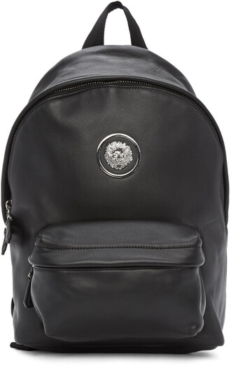 lion backpack black bag