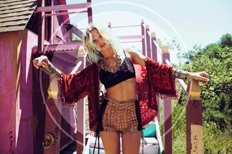 shorts indie hippie hippie chic hipster festival jacket cardigan