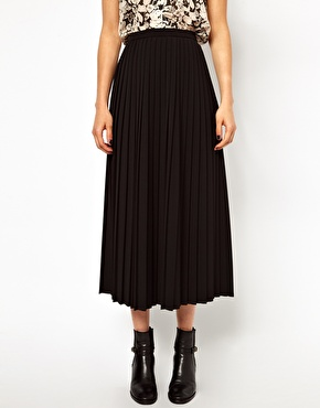 ASOS | ASOS Pleated Midi Skirt at ASOS