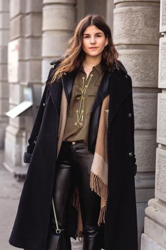 the fashion fraction blogger coat jacket shirt pants bag shoes jewels