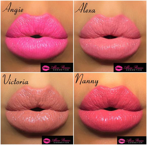 bright pink make-up neon pink makeup bag makeup nude lipstick pink lipstick lips lip gloss
