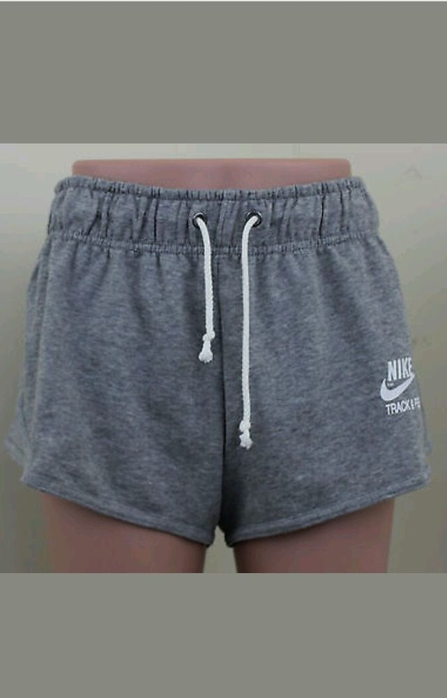 New Nike Track and Field Gray Heather sweat Shorts Women s Size XL 6e945ea64c