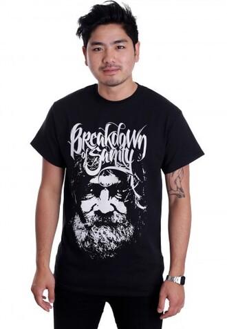 shirt breakdown of sanity old man bos metal metal music metalcore music band band t-shirt band merch merch impericon