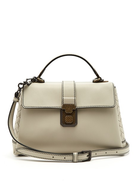 Bottega Veneta bag leather bag leather light grey