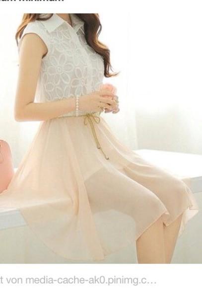 skirt beige kawaii cute fashion summer style dress
