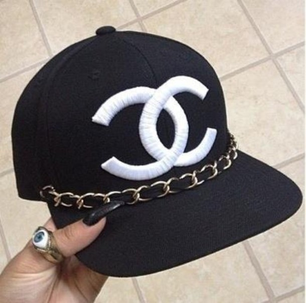 Hat Cap Chanel Chain Gold Swag Wheretoget