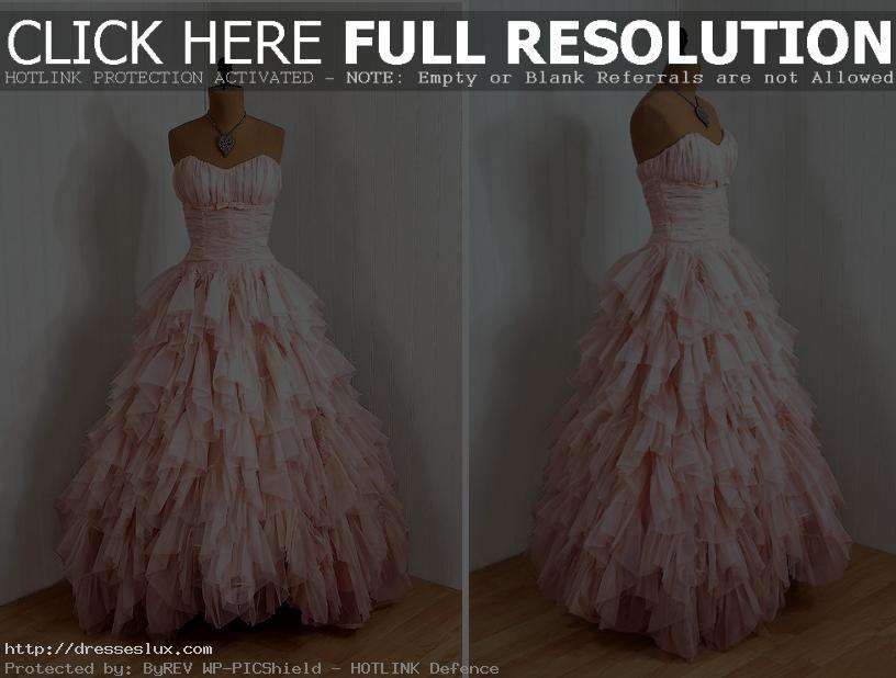 wedding dresses pink retro dress | dresseslux.com