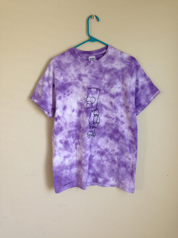 UNISEX MEDIUM melting bart simpson tie dye shirt