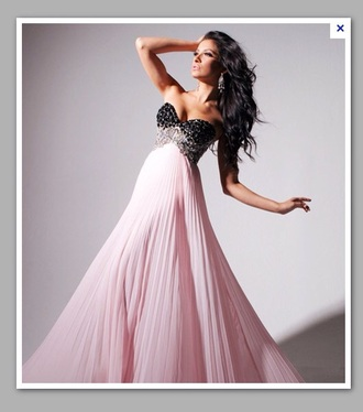 dress prom dress pink dress black dress pink and black maxi dress sparkle dress strapless dresses floaty