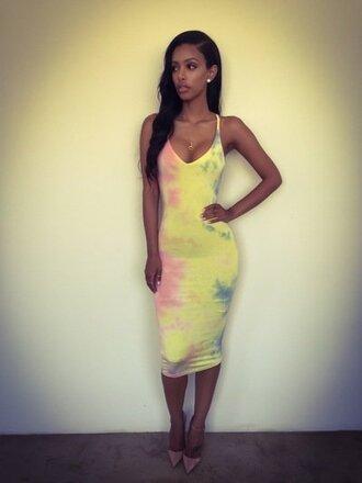 dress clothes neon long