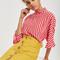 *petite button through skirt - mustard
