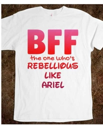 shirt ariel ariel rebellious bff