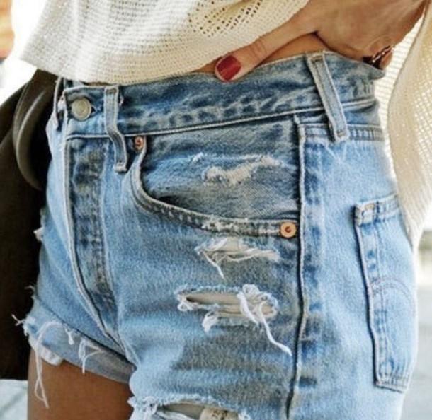 levis shorts damen high waist