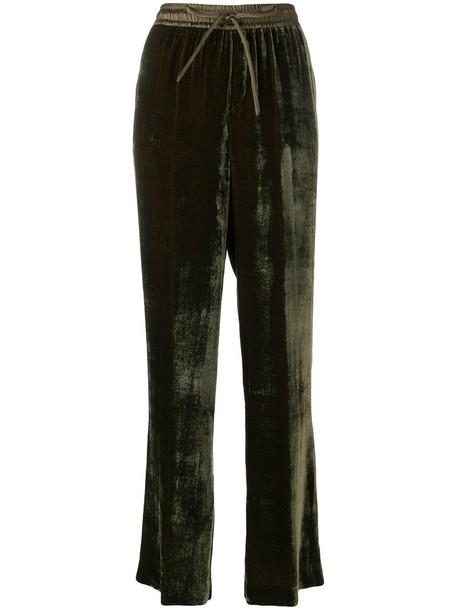 P.A.R.O.S.H. women silk green pants