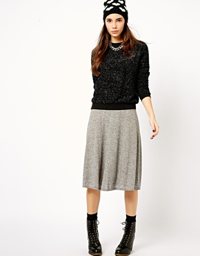 New Look   New Look Midi Skater Skirt at ASOS