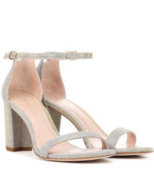 STUART WEITZMAN metallic sandals gold shoes