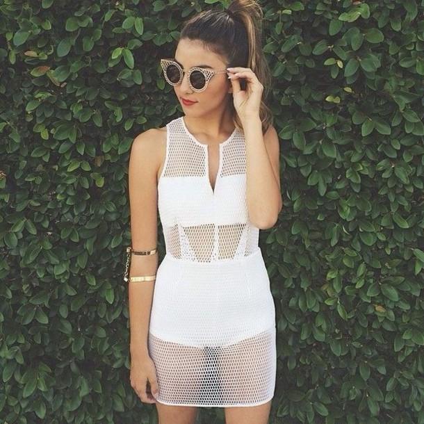 Dress white dress white white t shirt dope fashion for T shirt dress outfit tumblr