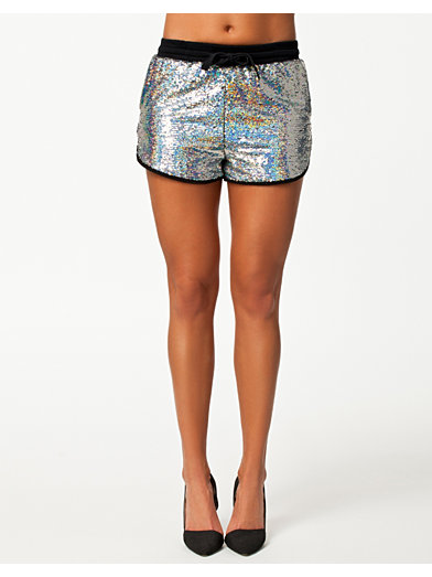 Hologram Shorts - Glamorous - Argent - Pantalons & Shorts - Vêtements - Femme - Nelly.com La Mode En Ligne Sur Internet