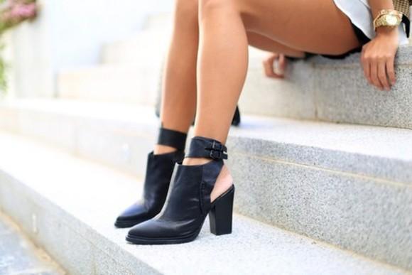 low boots high heels