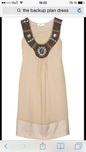 dress the back up plan beige dress glamour short dress