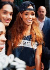 t-shirt,rihanna,swag,black and white,hat,cap,bag