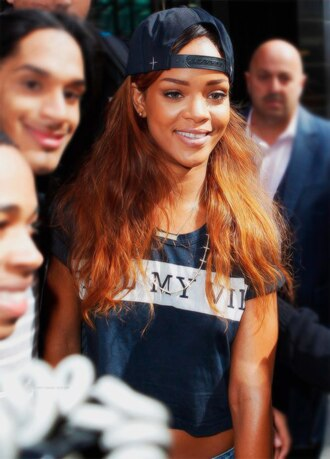 t-shirt rihanna swag black and white hat cap bag