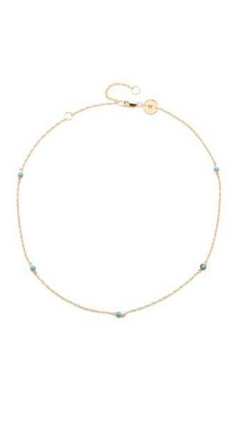 7db5c23d0 Jennifer Zeuner Jewelry Jennifer Zeuner Jewelry Luelle Turquoise Choker  Necklace - Gold/Turquoise