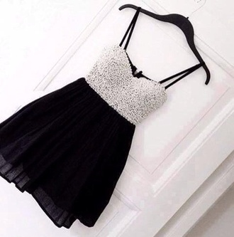 dress black sparkle little dress strapless