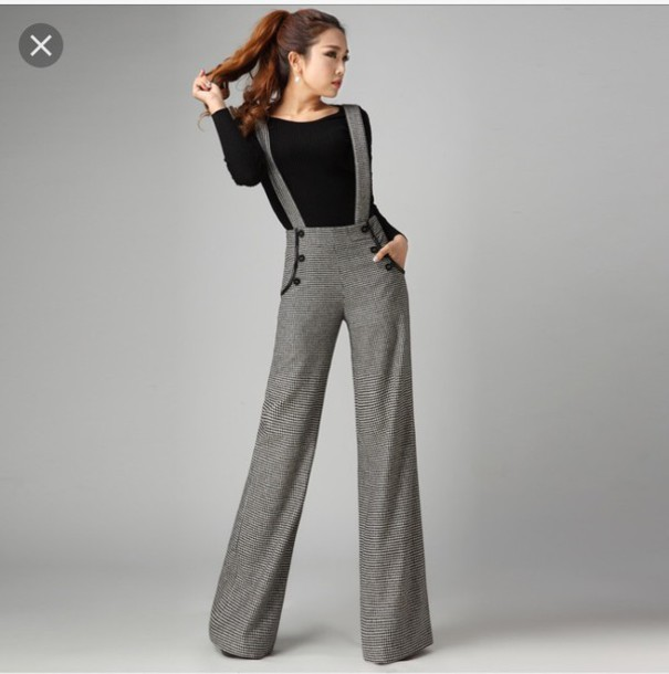 79e4f1644da jumpsuit wide pants jumpsuit with wide legs grey jumpsuit grey wide pants