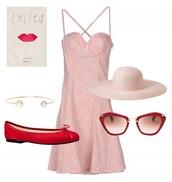 dress,hat,sunglasses,jewels,shoes