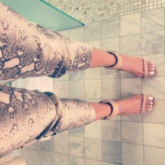 pants snake print pants clothes