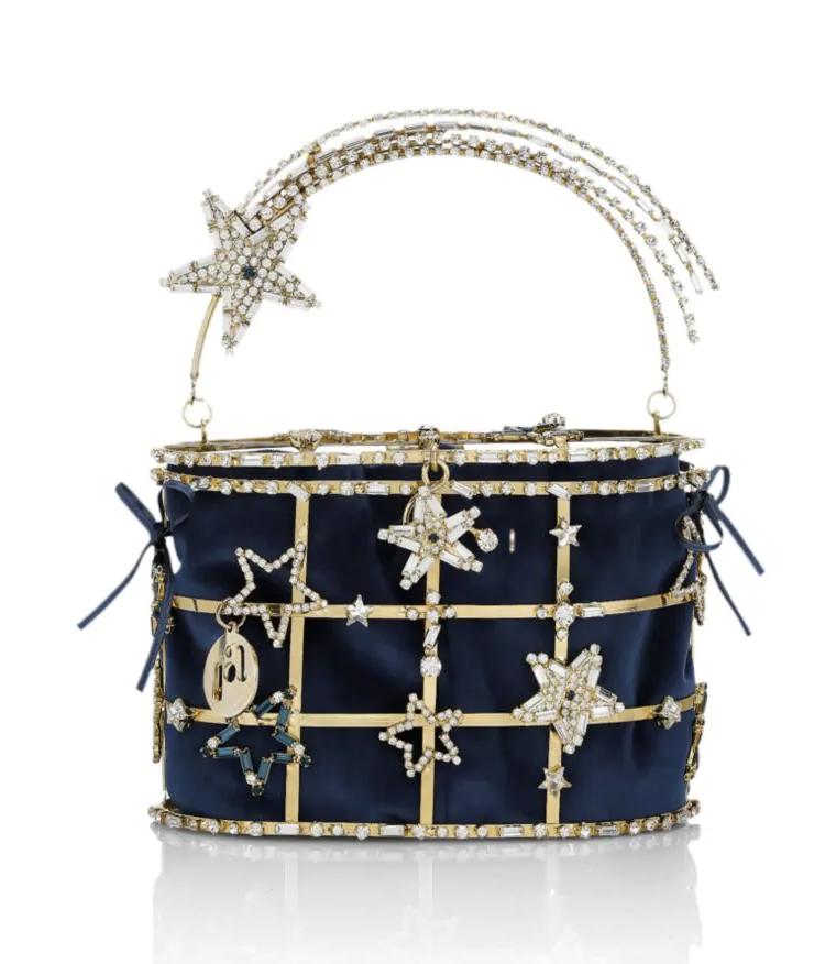Rosantica Hiolli Superstar Crystal-Embellished Top Handle Bag