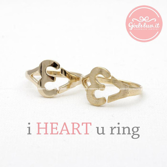jewels jewelry ring lovely heart heart ring adjustable ring